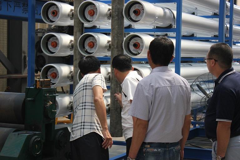 山西沁新新能源領導蒞臨考察廢水零排放設備